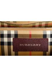 "Burberry Women's ""MD Banner"" Purple Textured Leather Satchel Handbag Bag: Picture 8"
