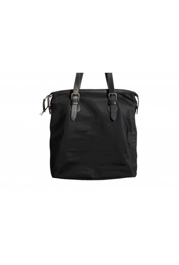 "Burberry Women's ""Trenton"" Black Leather Trimmed Tote Handbag Bag: Picture 5"