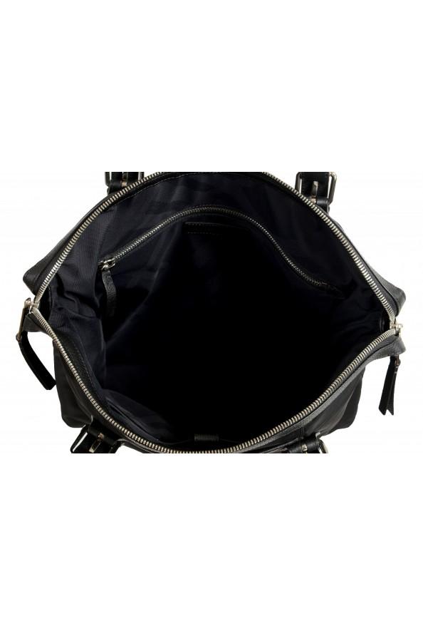 "Burberry Women's ""Trenton"" Black Leather Trimmed Tote Handbag Bag: Picture 6"