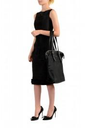 "Burberry Women's ""Trenton"" Black Leather Trimmed Tote Handbag Bag: Picture 8"