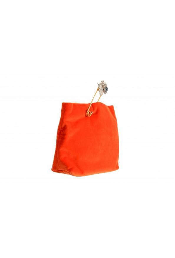 "Burberry Women's ""Pin Clutch"" Orange Velour Clutch: Picture 2"