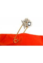 "Burberry Women's ""Pin Clutch"" Orange Velour Clutch: Picture 3"