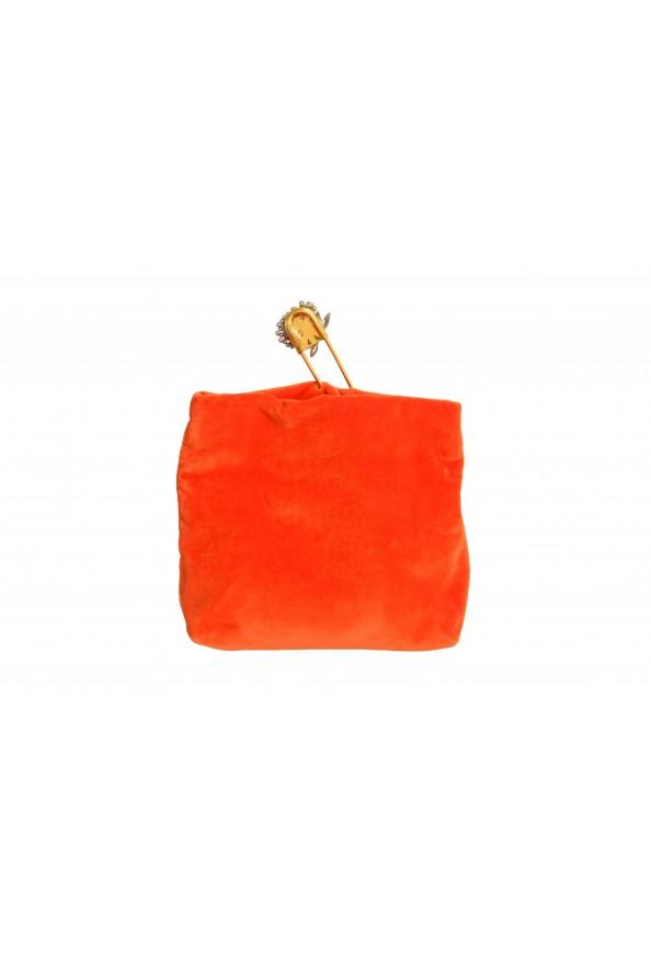 "Burberry Women's ""Pin Clutch"" Orange Velour Clutch: Picture 4"