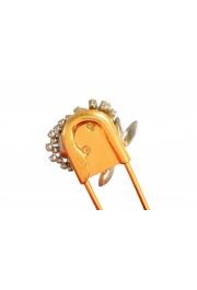 "Burberry Women's ""Pin Clutch"" Orange Velour Clutch: Picture 5"