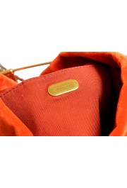 "Burberry Women's ""Pin Clutch"" Orange Velour Clutch: Picture 7"