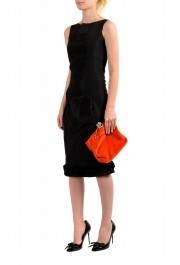 "Burberry Women's ""Pin Clutch"" Orange Velour Clutch: Picture 8"