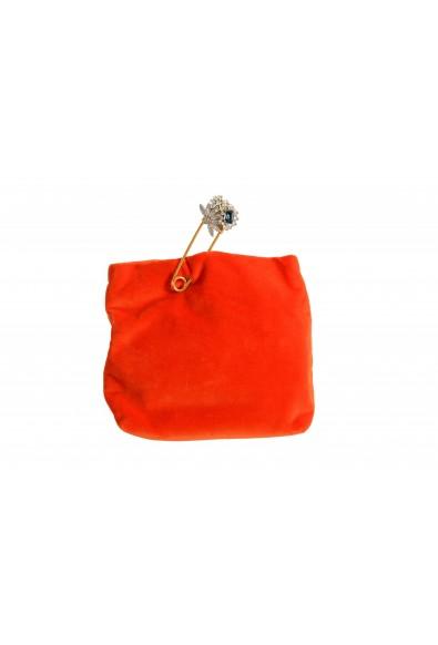 "Burberry Women's ""Pin Clutch"" Orange Velour Clutch"