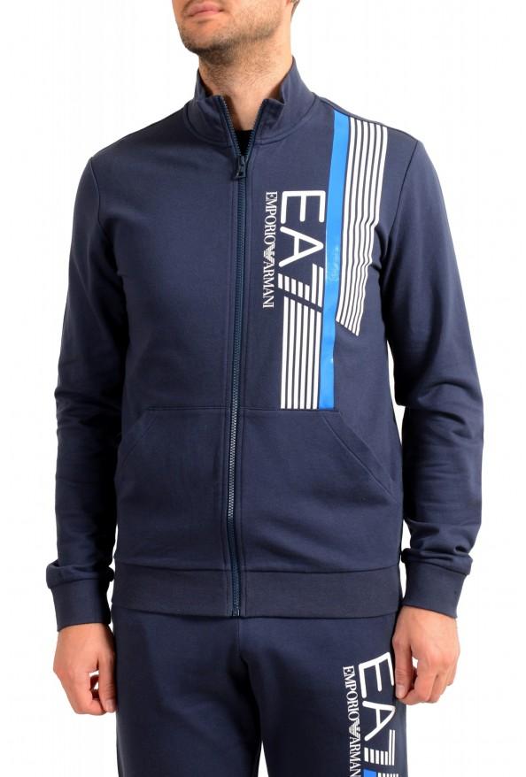 Emporio Armani EA7 Men's Dark Blue Logo Print Track Sweat Suit: Picture 4