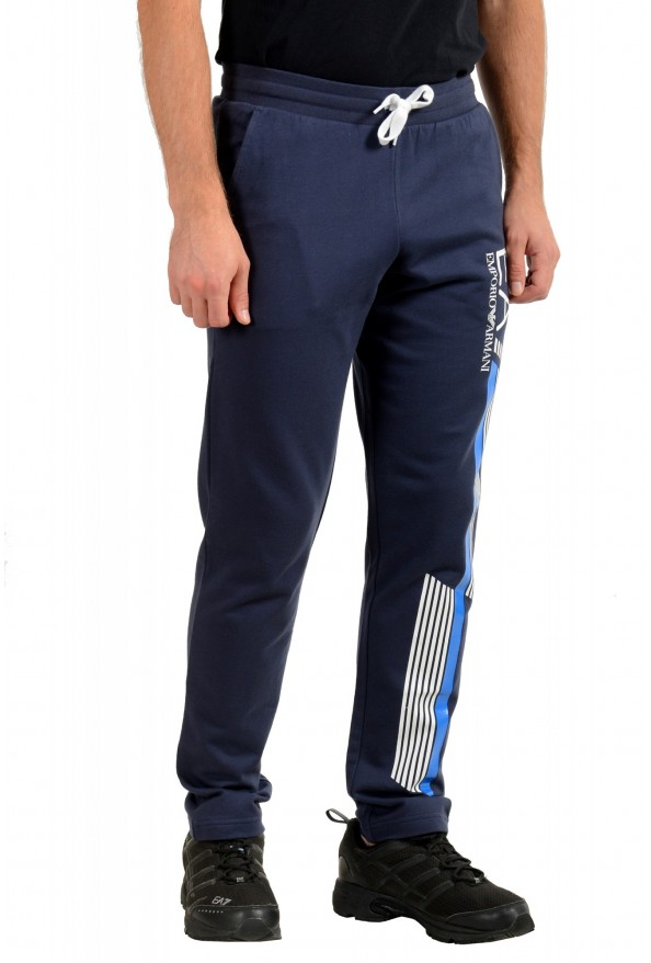 Emporio Armani EA7 Men's Dark Blue Logo Print Track Sweat Suit: Picture 9