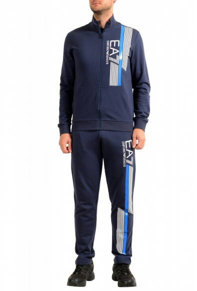 Emporio Armani EA7 Men's Dark Blue Logo Print Track Sweat Suit