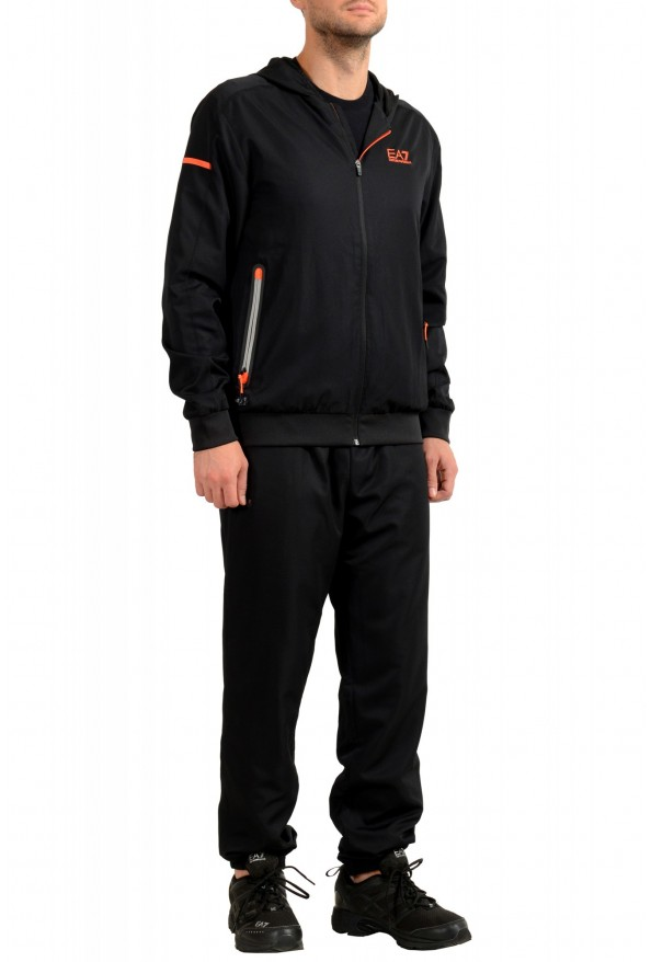 Emporio Armani EA7 Men's Black Logo Print Track Sweat Suit: Picture 2