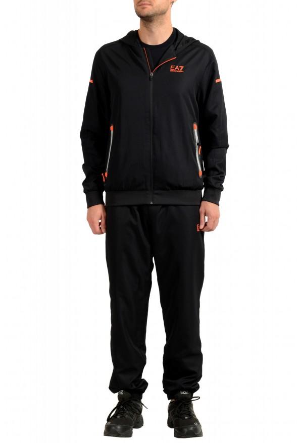 Emporio Armani EA7 Men's Black Logo Print Track Sweat Suit