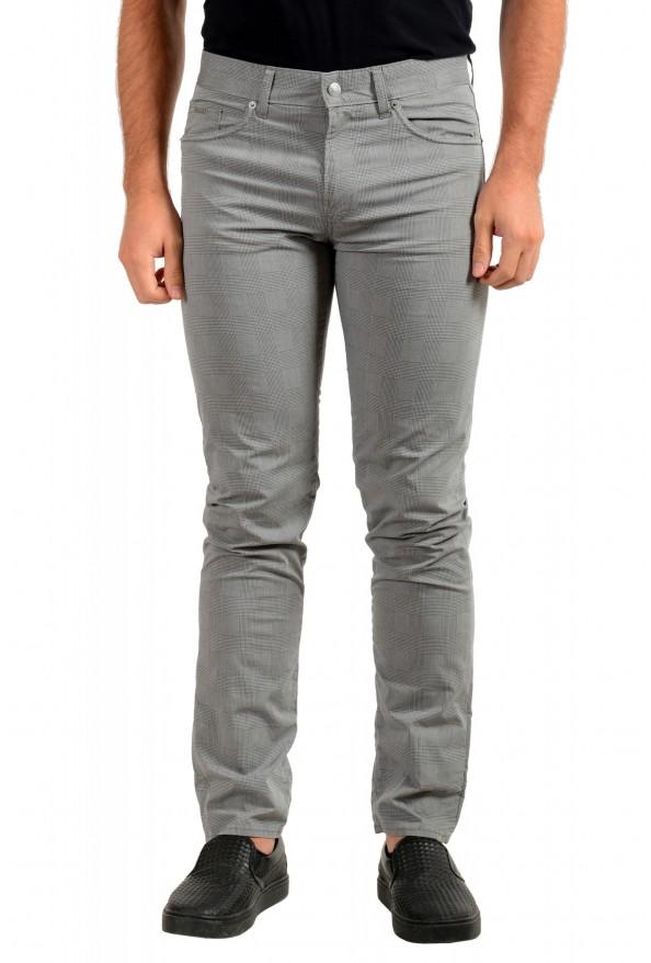 """Hugo Boss Men's """"Delaware3-9-20"""" Slim Fit Plaid Straight Leg Jeans"""