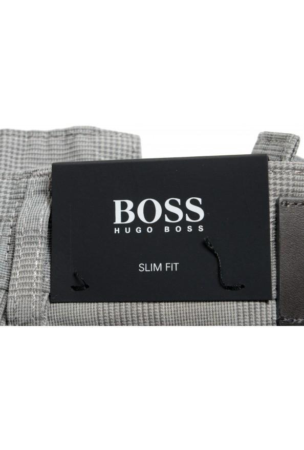"""Hugo Boss Men's """"Delaware3-9-20"""" Slim Fit Plaid Straight Leg Jeans: Picture 5"""
