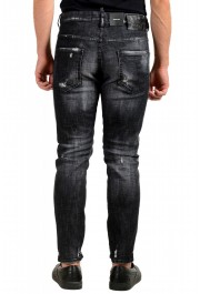 """Dsquared2 Men's Off Black Distressed Look """"Skater Jean"""" Jeans: Picture 3"""