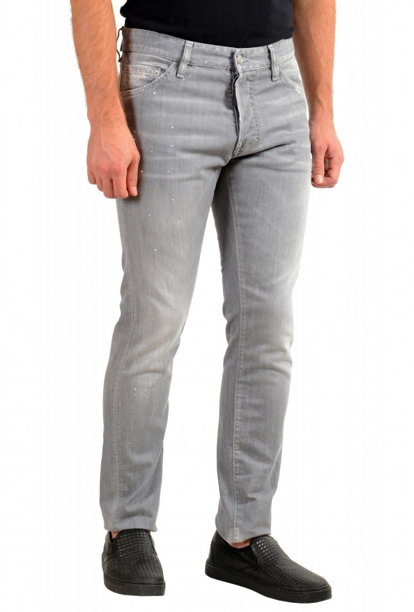 """Dsquared2 Men's Gray Distressed Look """"Cool Guy Jean"""" Jeans: Picture 2"""