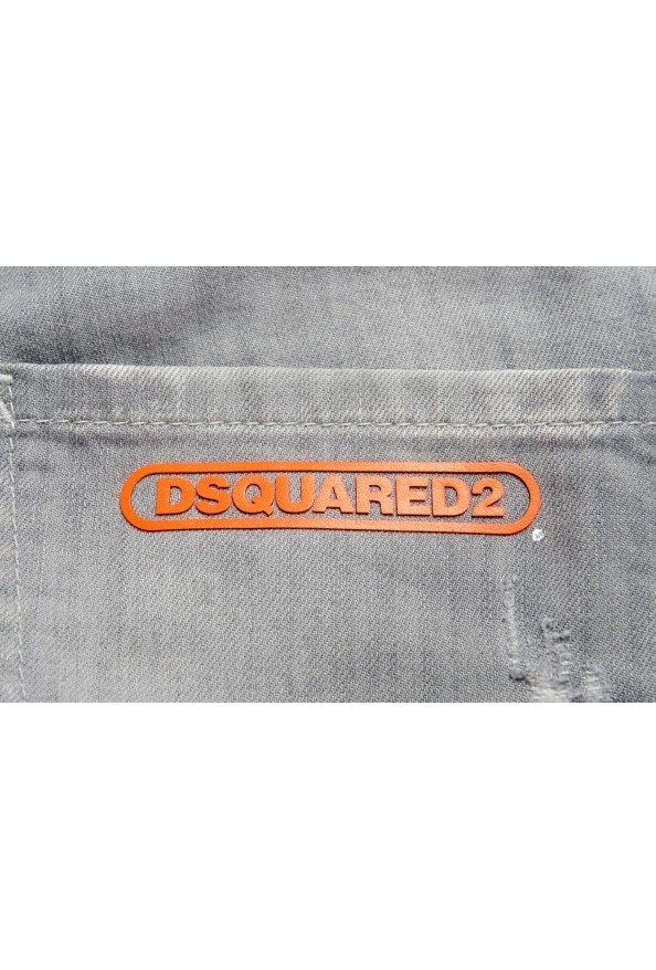 """Dsquared2 Men's Gray Distressed Look """"Cool Guy Jean"""" Jeans: Picture 4"""