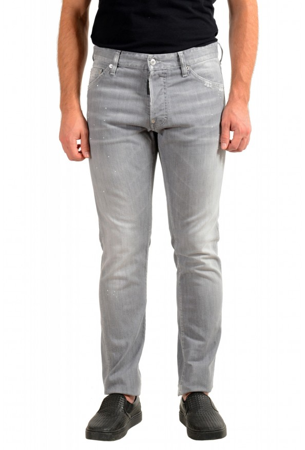 """Dsquared2 Men's Gray Distressed Look """"Cool Guy Jean"""" Jeans"""