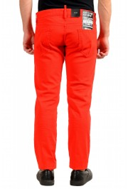 """Dsquared2 Men's Red Distressed Look """"Slim Jean"""" Jeans: Picture 3"""