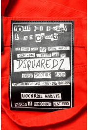 """Dsquared2 Men's Red Distressed Look """"Slim Jean"""" Jeans: Picture 4"""