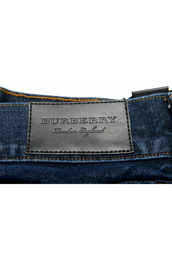 "Burberry Men's ""Workwear"" Dark Blue Straight Leg Jeans : Picture 4"