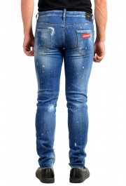 "Dsquared2 Men's ""Slim Jean"" Blue Distressed Straight Leg Jeans : Picture 3"
