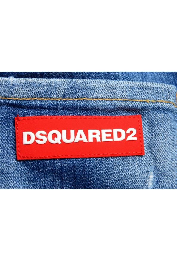"Dsquared2 Men's ""Slim Jean"" Blue Distressed Straight Leg Jeans : Picture 4"