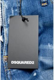 "Dsquared2 Men's ""Slim Jean"" Blue Distressed Straight Leg Jeans : Picture 5"