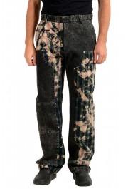 "Versace Men's ""HERITAGE"" Multi-Color Denim Casual Pants"