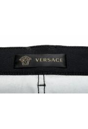 Versace Men's Black Graphic Print Straight Leg Jeans: Picture 5