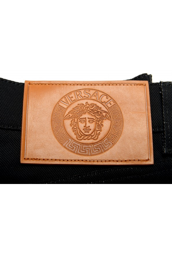 Versace Men's Black Graphic Print Straight Leg Jeans: Picture 6