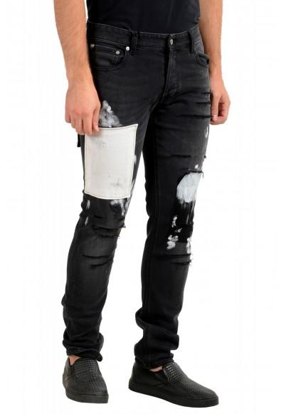 "Just Cavalli Men's ""Slim"" Multi-Color Distressed Look Jeans : Picture 2"