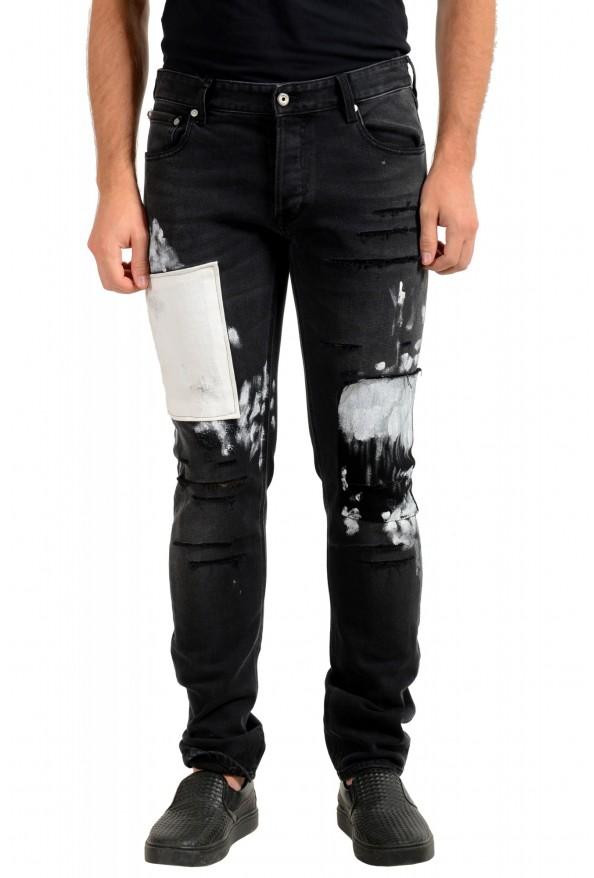 "Just Cavalli Men's ""Slim"" Multi-Color Distressed Look Jeans"