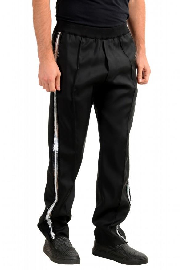 "Dsquared2 Men's ""Gym Fit"" Black Embellished Silk Wool Pants: Picture 2"