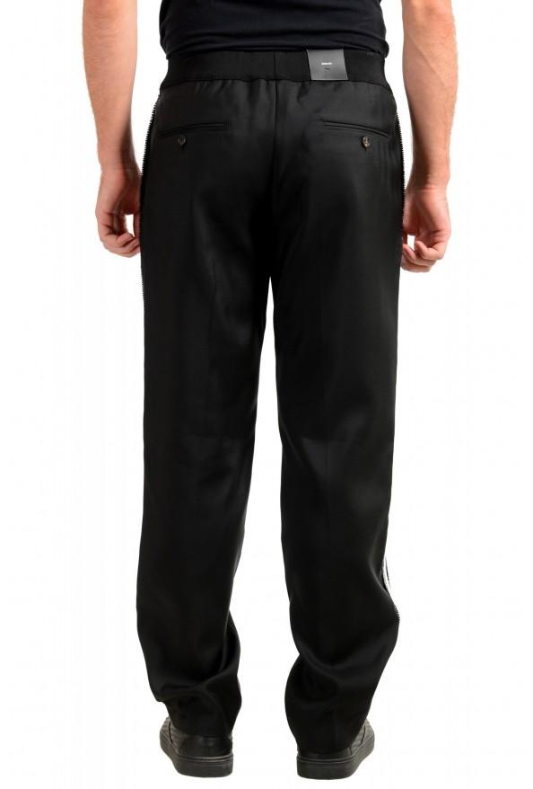 "Dsquared2 Men's ""Gym Fit"" Black Embellished Silk Wool Pants: Picture 3"