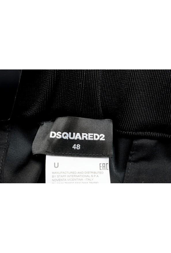 "Dsquared2 Men's ""Gym Fit"" Black Embellished Silk Wool Pants: Picture 4"