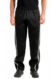 """Dsquared2 Men's """"Gym Fit"""" Black Embellished Silk Wool Pants"""
