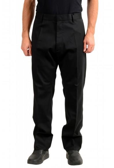 """Dsquared2 Men's """"Run Dan Fit"""" Black Wool Dress Pants"""