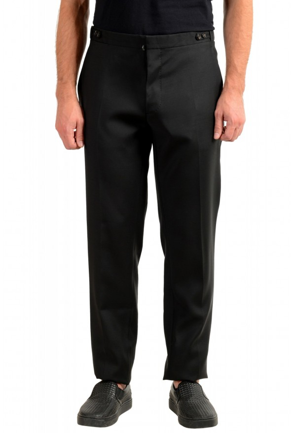 "Dsquared2 Men's ""London Fit"" Black Wool Silk Dress Pants"