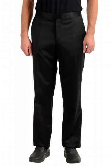 "Hugo Boss Men's ""Housten/Glorious"" Black 100% Wool Dress Pants"