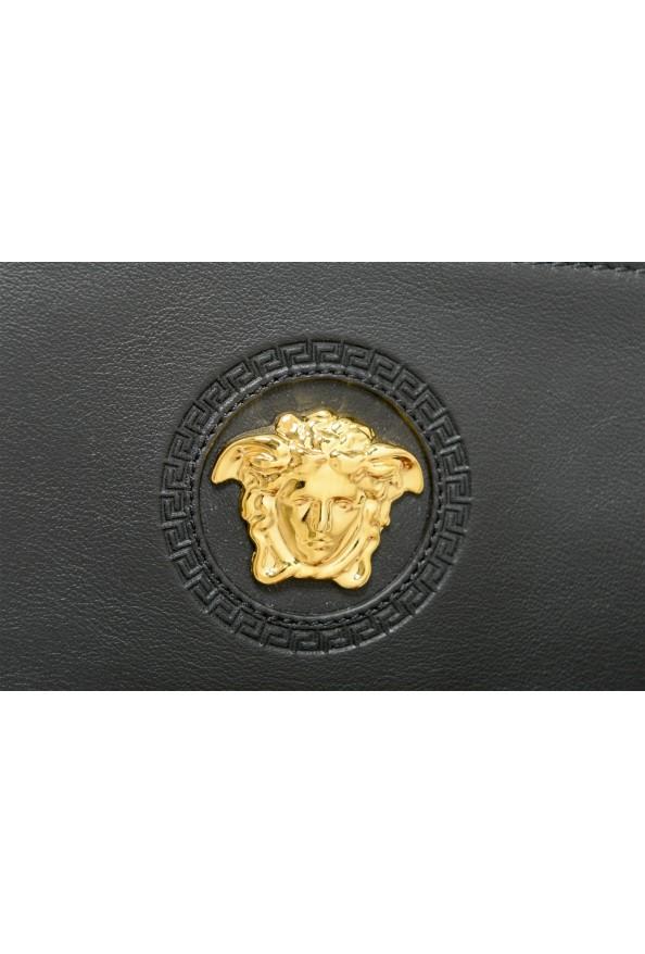 Versace Women's Black Leather Gold Medusa Clutch Handbag Bag: Picture 2