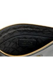 Versace Women's Black Leather Gold Medusa Clutch Handbag Bag: Picture 4