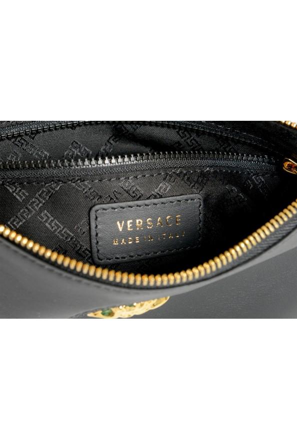 Versace Women's Black Leather Gold Medusa Clutch Handbag Bag: Picture 5