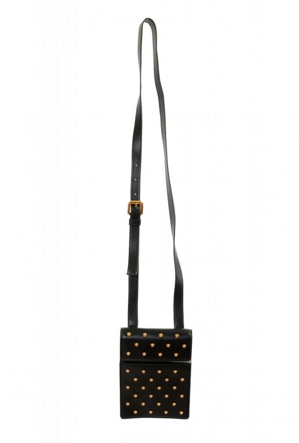 Versace Men's 100% Leather Medusa Stud Mini Shoulder Bag