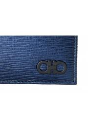 Salvatore Ferragamo Men's Logo Blue 100% Textured Leather Bifold Wallet: Picture 2