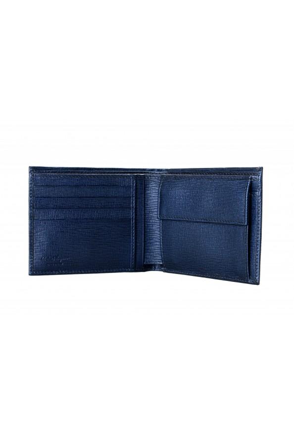 Salvatore Ferragamo Men's Logo Blue 100% Textured Leather Bifold Wallet: Picture 3