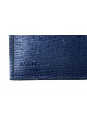 Salvatore Ferragamo Men's Logo Blue 100% Textured Leather Bifold Wallet: Picture 4