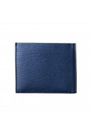 Salvatore Ferragamo Men's Logo Blue 100% Textured Leather Bifold Wallet: Picture 5