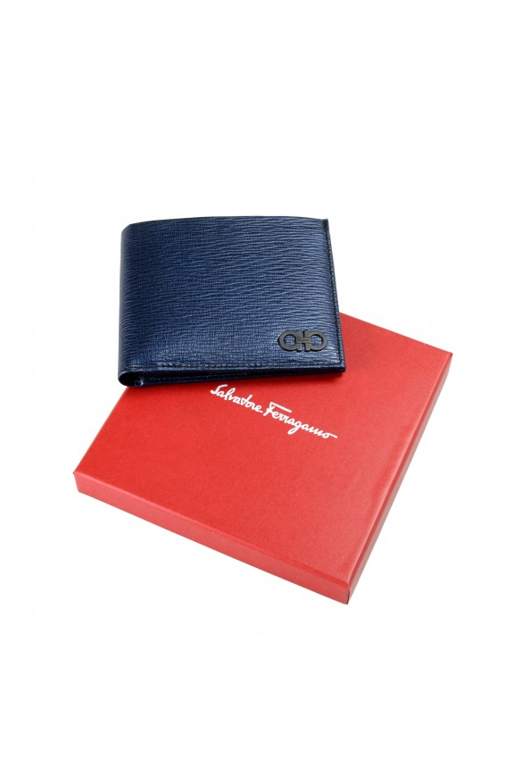 Salvatore Ferragamo Men's Logo Blue 100% Textured Leather Bifold Wallet: Picture 6