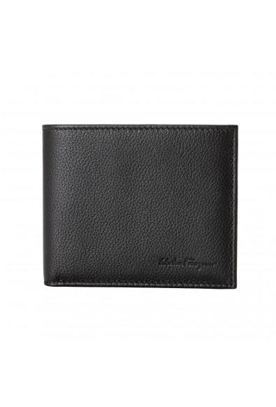 Salvatore Ferragamo Men's Dark Brown Pebbled Leather Bifold Wallet